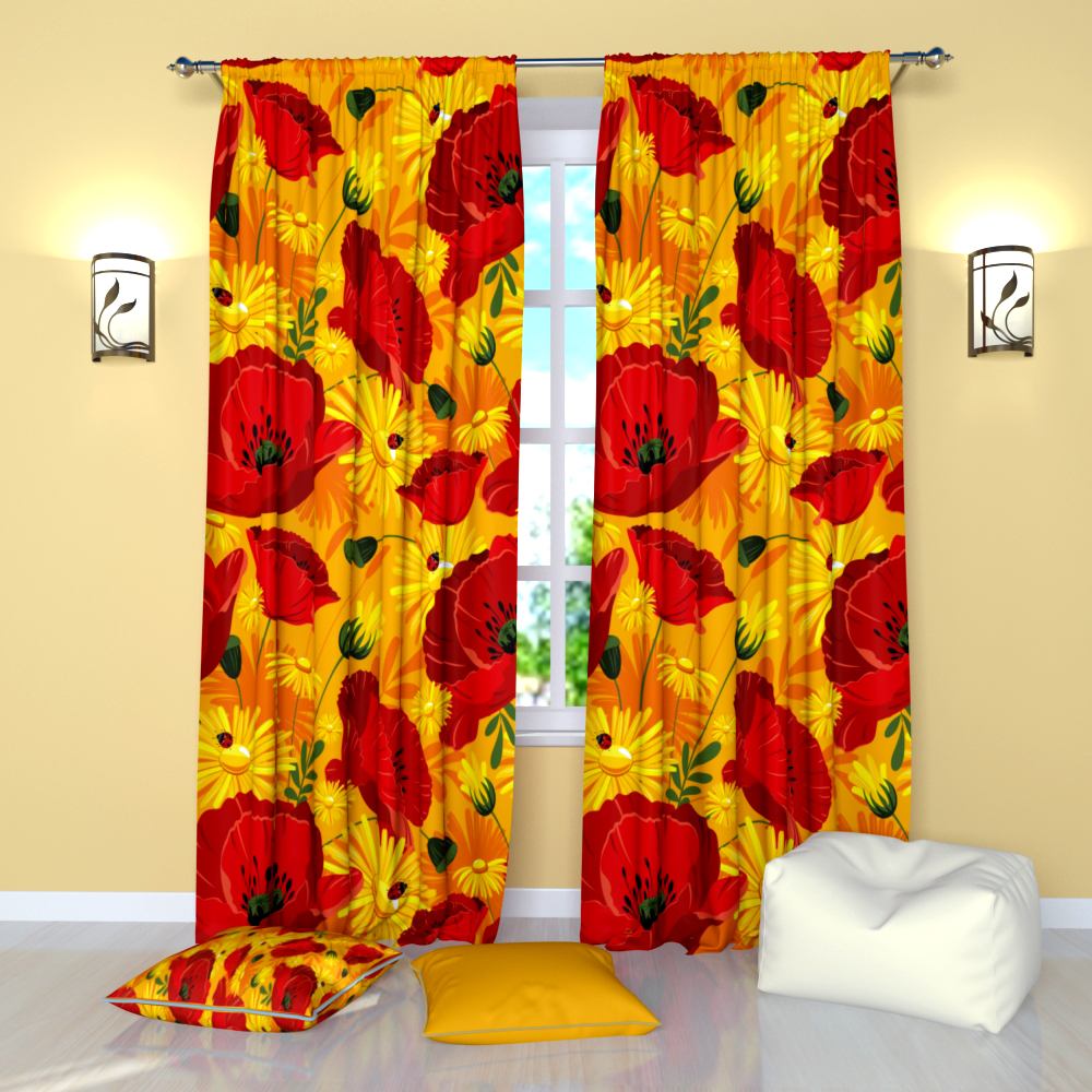 Window Curtains - Bright Glade